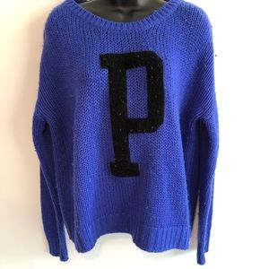 PINK VS Chunky Knit Blue Sweater